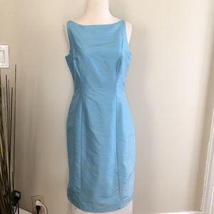 Ann Taylor Blue 100% silk dress size 8